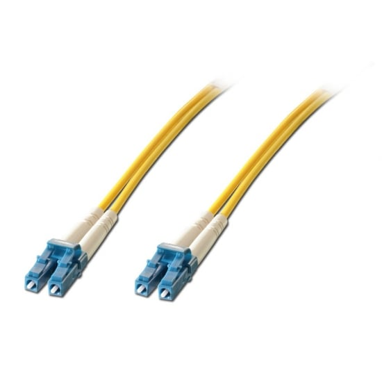 30m Fibre Optic Patch Lead OS1 LC to LC Connectors, 9/125µm