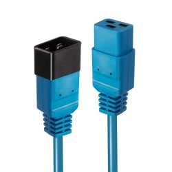 3m IEC C19 to C20 Extension Cable, Blue