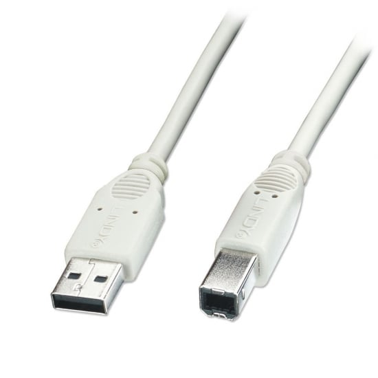 3m USB 2.0 Cable - Type A to B, Grey, Box of 50