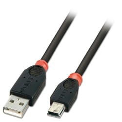 3m USB 2.0 Cable - Type A To Mini-B, Black