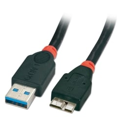 3m USB 3.0 Cable - Type A Male to Micro-B Male, Black