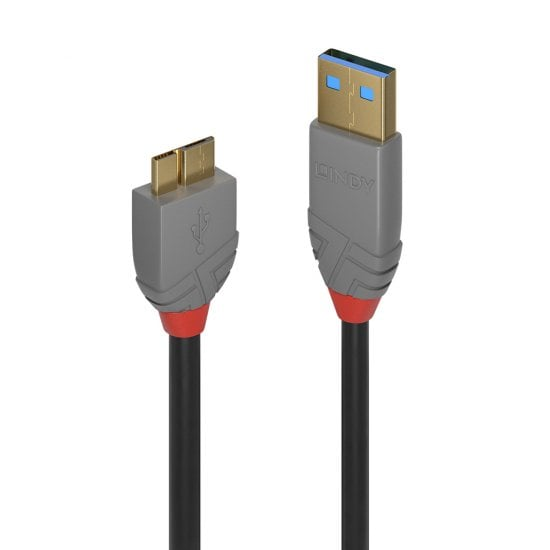3m USB 3.0 Type A to Micro-B Cable, Anthra Line