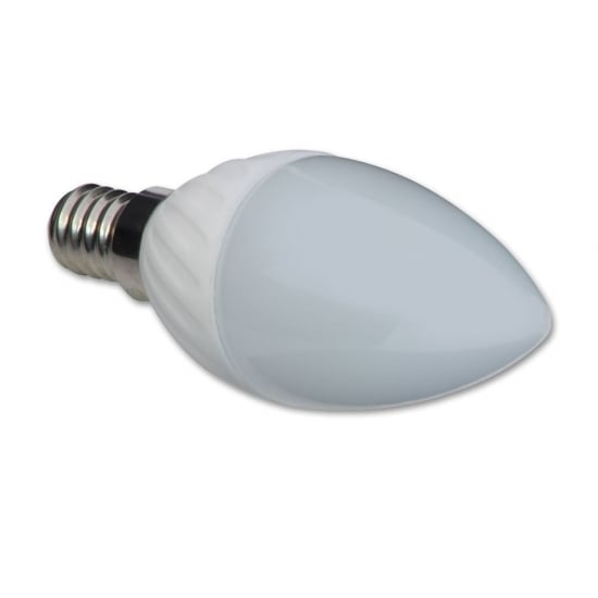 3W LED Candle Bulb, Screw Fit, Warm White