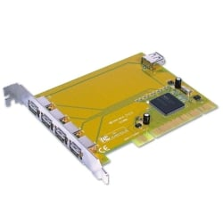 4+1 Port USB 2.0 Card, PCI (32 Bit), PC & Mac Compatible