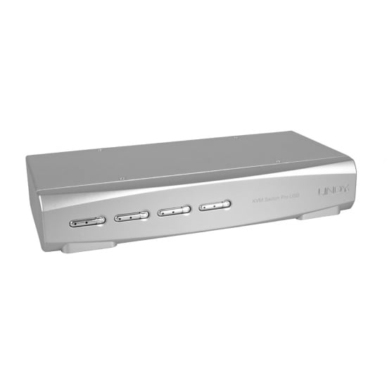 4 Port DVI-I Dual Link, USB 2.0 & Audio KVM Switch Pro