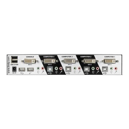 4 Port DVI-I Single Link, USB 2.0 & Audio KVM Switch Pro