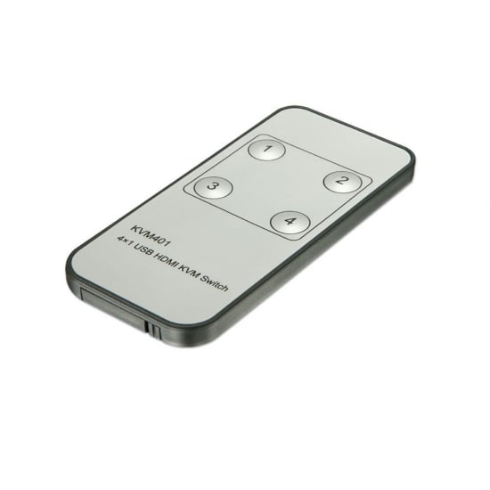 4 Port KVM Switch - HDMI, USB 2.0 & Audio