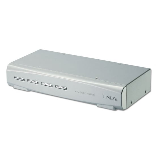 4 Port KVM Switch Pro USB 2.0, DVI-I Single Link with TTU