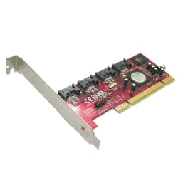 4 Port SATA II Card, Low Profile Option, RAID Function, PCI