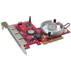 4 Port SATA II Card, RAID 5 Function, PCIe x8