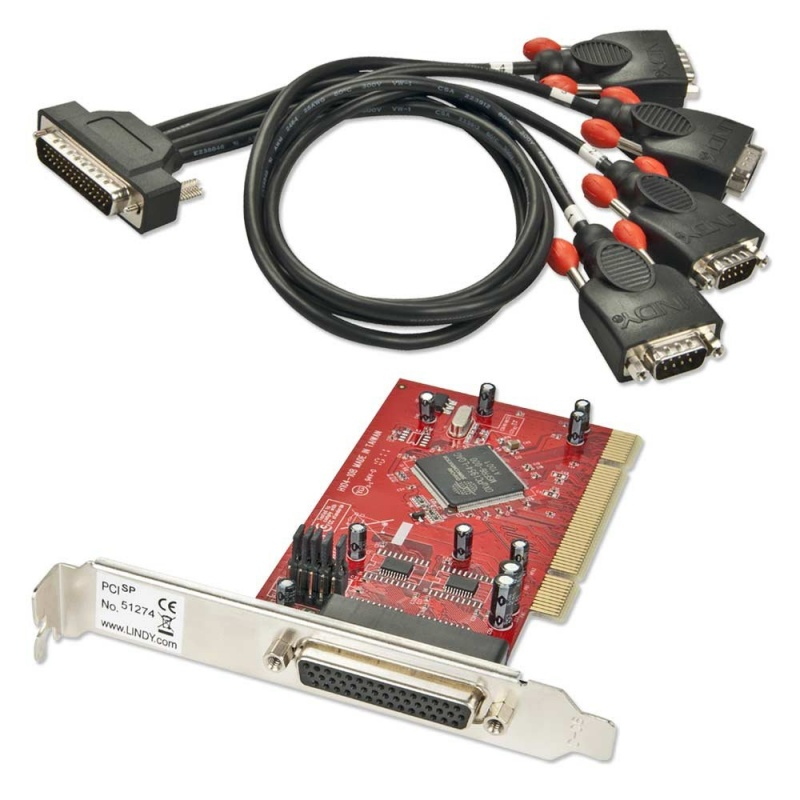 4 Port Serial RS-232 PCI Card
