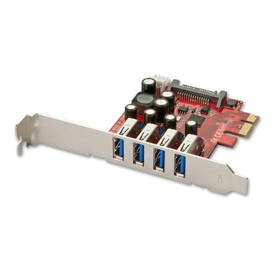 4 Port USB 3.0 Card, PCIe
