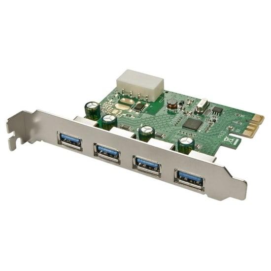 4 Port USB 3.0 PCIe Card 4 x External USB 3.0 Ports