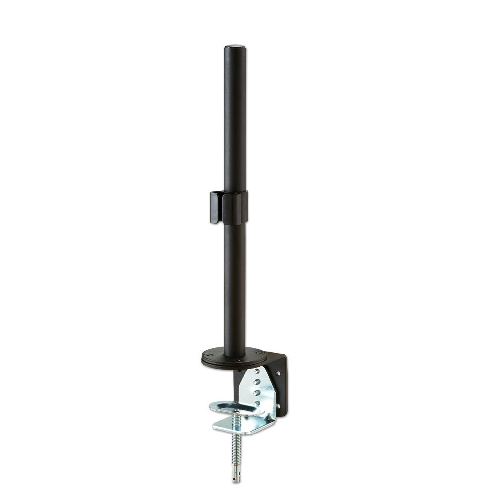 400mm Pole With Desk Clamp Black From Lindy Uk