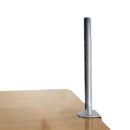 450mm Desk Clamp Pole, Silver