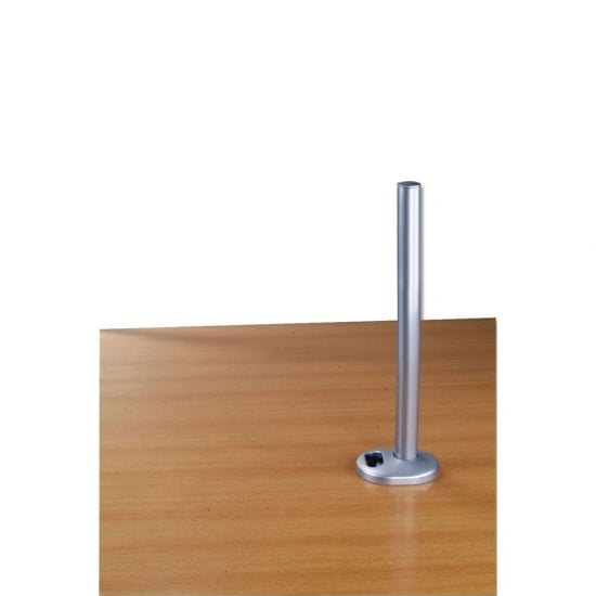450mm Desk Grommet Clamp Pole, Silver