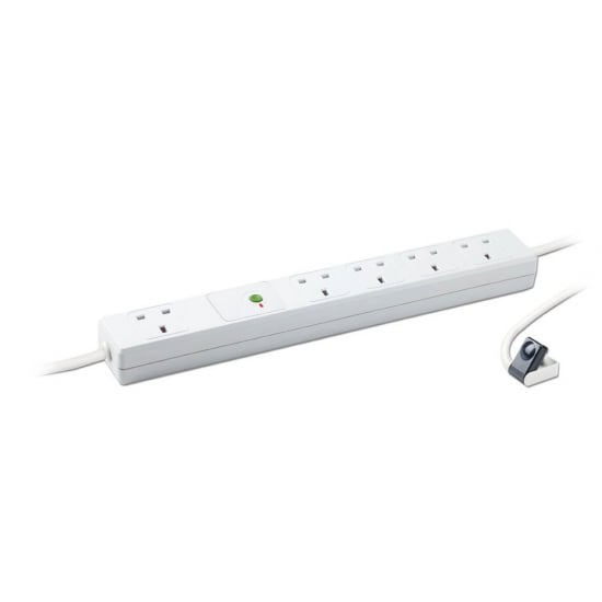 5 Way Infrared Controlled Automatic Shutdown Power Strip, 1.5m