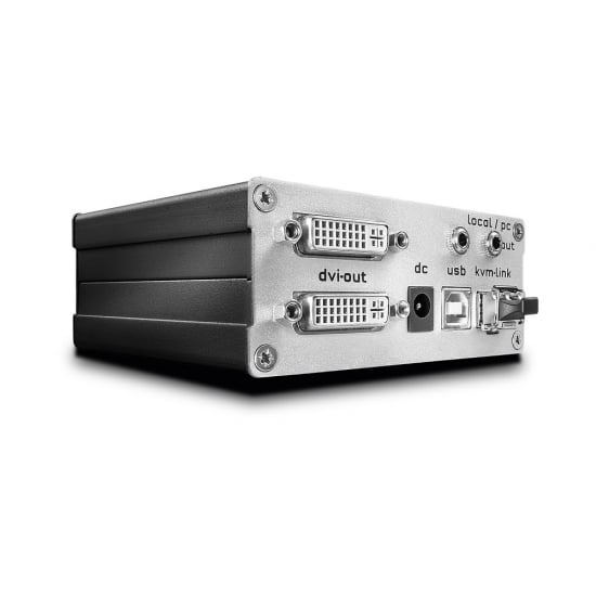 500m Fibre Optic DVI-D Single Link & USB 2.0 KVM Extender, Transmitter