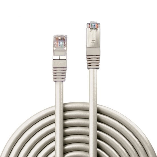 50m CAT6 F/UTP Solid Patch Cable, Grey
