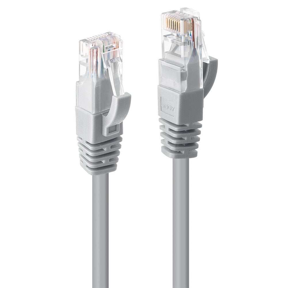 LINDY 3 M Cat6 F//Utp Gigabit Snagless Network Cable Grey