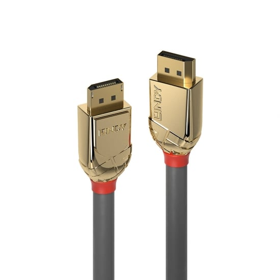 5m DisplayPort 1.4 Cable, Gold Line