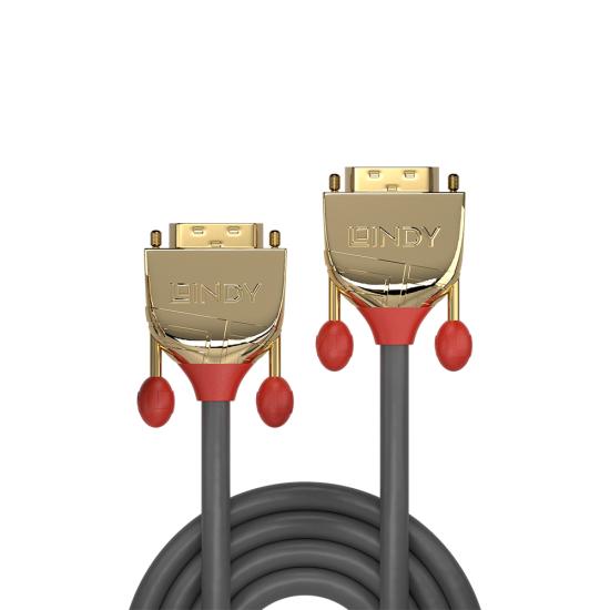 5m DVI-D Dual Link Cable, Gold Line