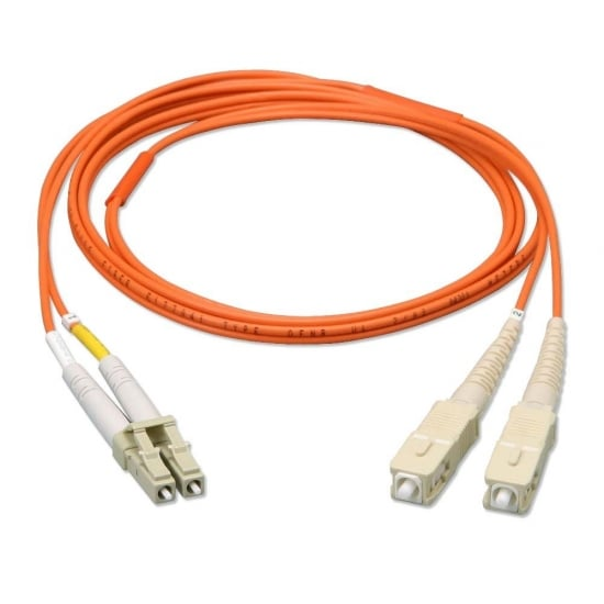 5m Fibre Optic Cable - LC to SC, 62.5/125µm OM1