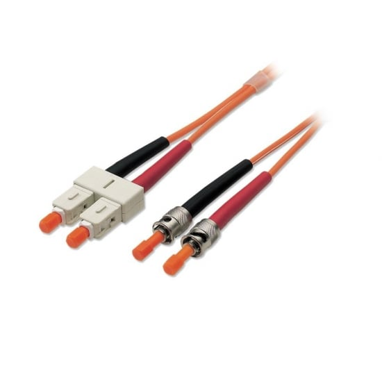 5m Fibre Optic Cable - ST to SC, 50/125µm OM2
