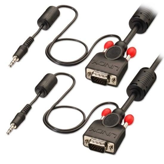 5m Premium VGA & Audio Cable