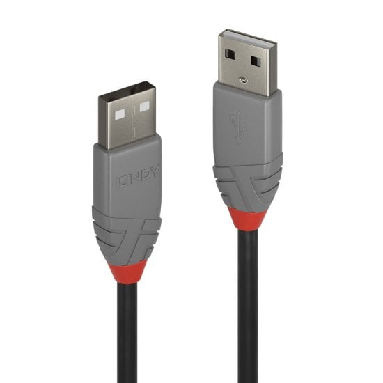 5m USB 2.0 Type A to A Cable, Anthra Line