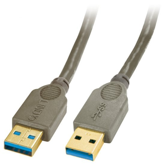 5m USB 3.0 Cable Type A Male to Type A Male, Anthracite