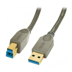 5m USB 3.0 Cable - Type A to B, Anthracite