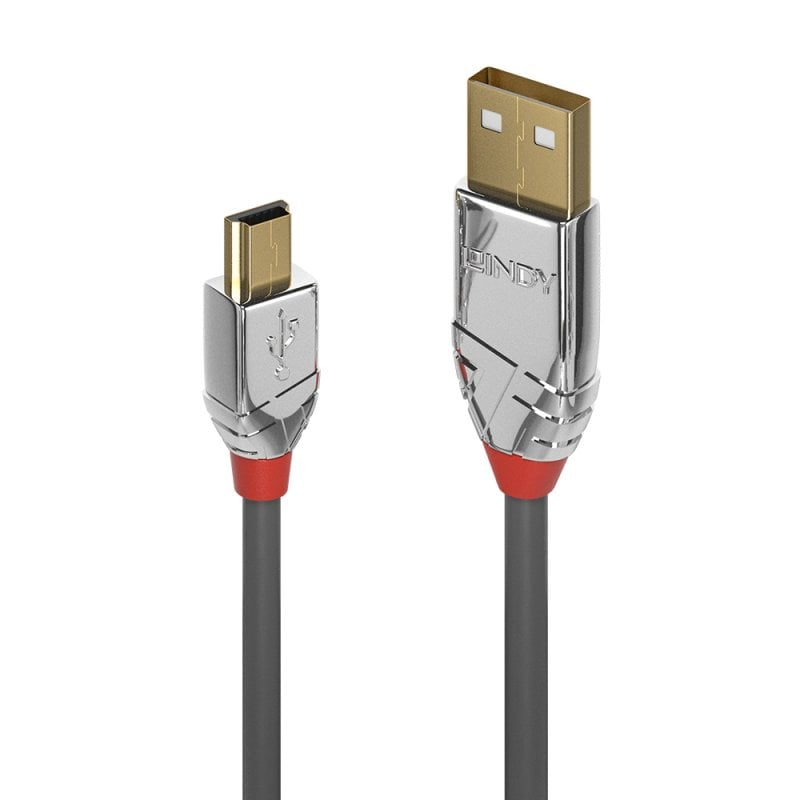 7.5m USB 2.0 Type A to Mini-B Cable, Cromo Line