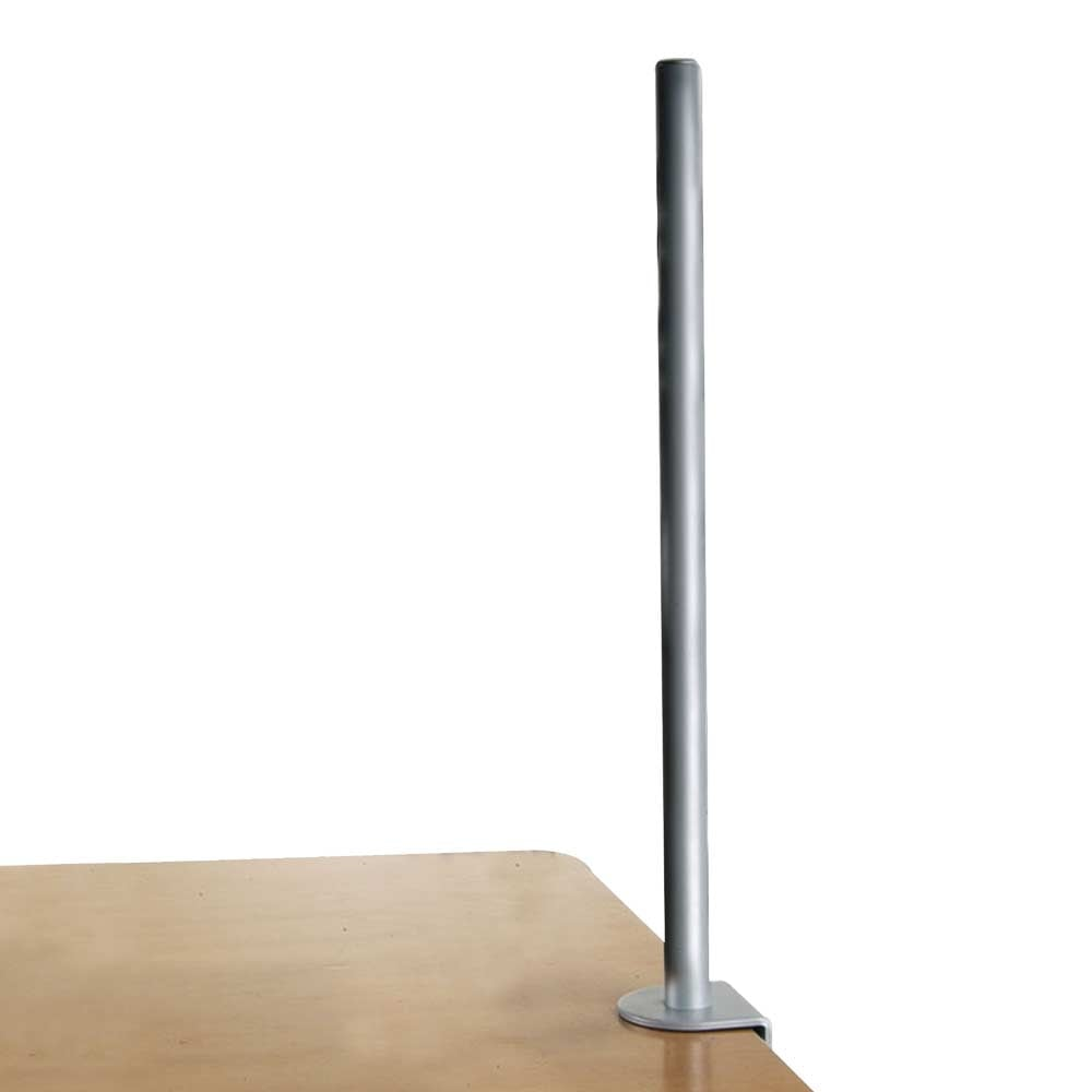 700mm Desk Clamp Pole Silver From Lindy Uk