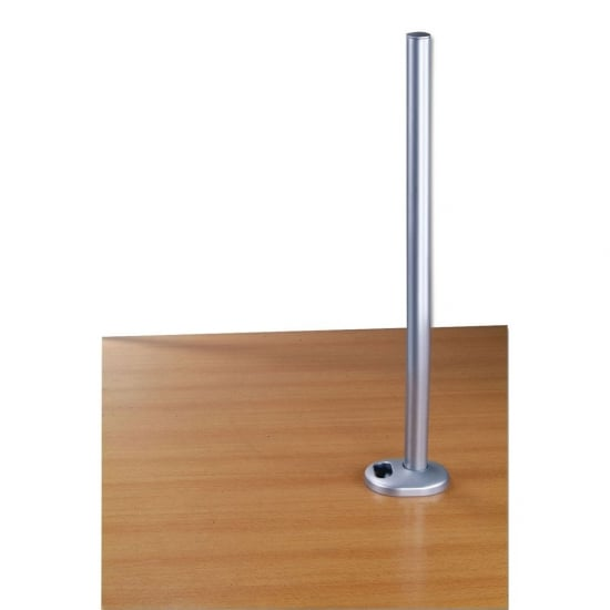 700mm Desk Grommet Clamp Pole, Silver