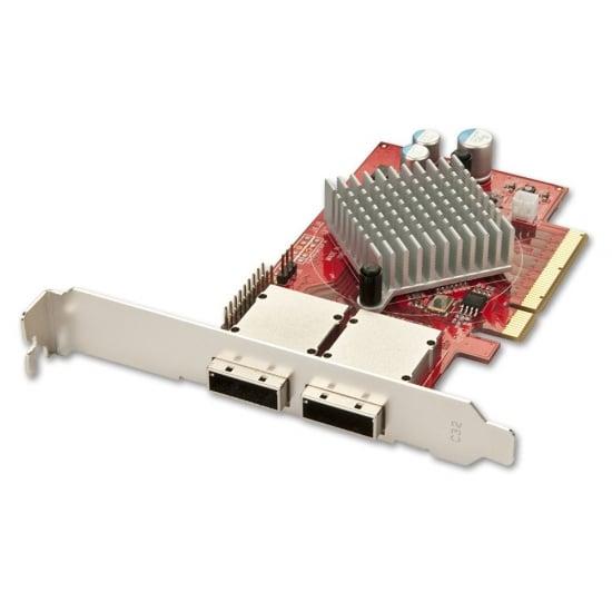 8 port SAS/SATA 6Gbps Multilane Controller, Low Profile Option, PCIe x8 x16