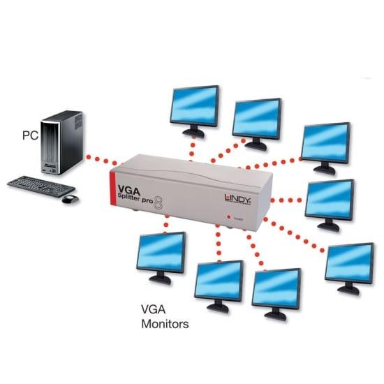 8 Port VGA Splitter