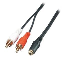AV Adapter Cable - 3.5mm Female to 2 x RCA Male