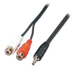AV Adapter Cable - 3.5mm Male to 2 x RCA Female