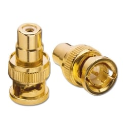 BNC Male to Phono Female Adapter (3 Pack)