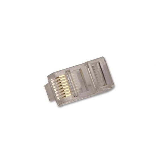 CAT5/5e Unshielded RJ-45 Male Crimp Connector, Pack of 10