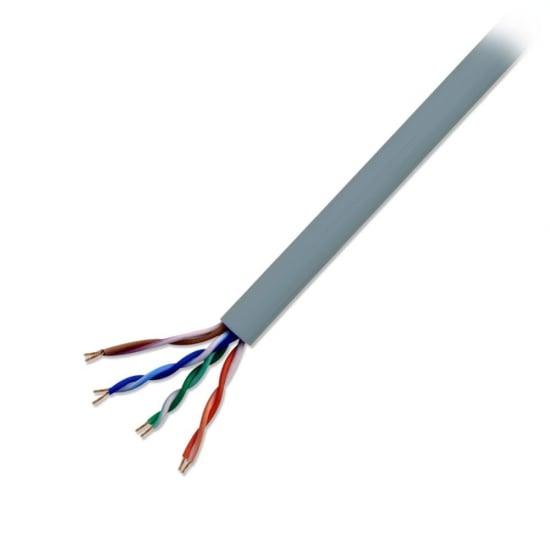 CAT5 U/UTP Stranded Network Cable, Grey, 100m Reel