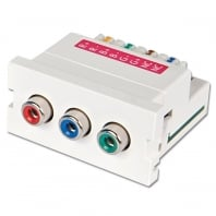 CAT5e/6 Modular AV Extender, 3 x Phono