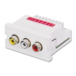 CAT5e/6 Modular AV Extender, 3 x RCA/Phono Connections