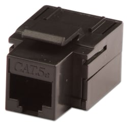 CAT5e Keystone Coupler, Black