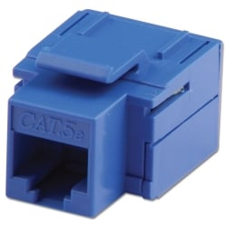 CAT5e Keystone Coupler, Blue