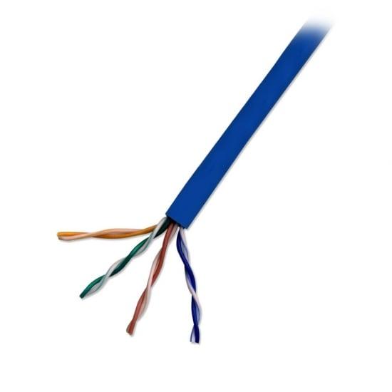 CAT5e U/UTP Stranded Network Cable, Blue, 305m Reel