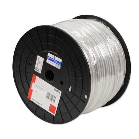 CAT5e U/UTP Stranded Network Cable, Grey, 305m Reel