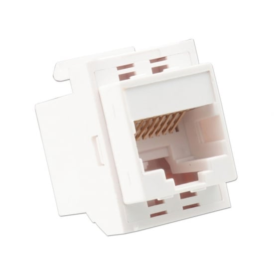 CAT6 Keystone Coupler, White