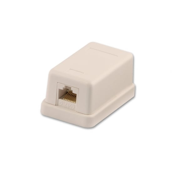CAT6 Single Wall Mount Box UTP, RJ-45, T568A/T568B